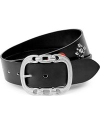 Undercover Metallic Studded Icon Leather Belt