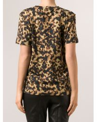 Barbara Bui - Brown Tortoiseshell Print T-Shirt - Lyst