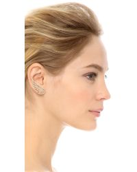 Joanna Laura Constantine | Metallic Crystal Wing Earrings - Rose Gold/clear | Lyst