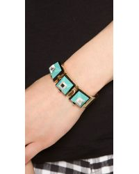Marc By Marc Jacobs - Green Stacking The Deck Bling It On Cuff Bracelet - Lyst