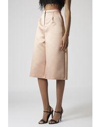 TOPSHOP Pink Premium Satin Culottes