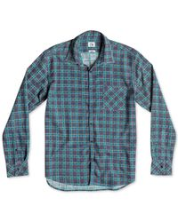 Quiksilver - Green Pinelook Slim-fit Printed Check Shirt for Men - Lyst