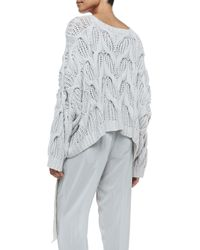 Donna Karan - White Cashmere Oversized Boat-Neck Sweater - Lyst