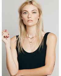 Free People - Metallic Luxe Triple Necklace - Lyst