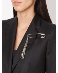 Sonia Rykiel | Metallic Embellished Tassel Brooch | Lyst