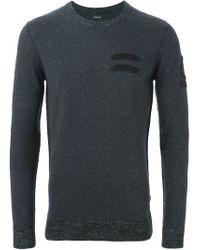 DIESEL - Gray Crew Neck Sweater for Men - Lyst