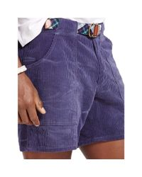 Polo Ralph Lauren | Blue Straight-fit Corduroy Short for Men | Lyst