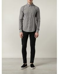Band of Outsiders - Gray Polka Dot Button-down Shirt for Men - Lyst
