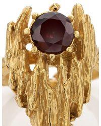 Alighieri   Metallic Gold L'inferno Garnet Ring   Lyst