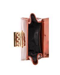 Zac Zac Posen Brown Holographic Eartha Mini Wristlet - Copper