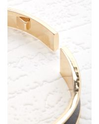 Forever 21 - Metallic Faux Leather Hinge Cuff - Lyst