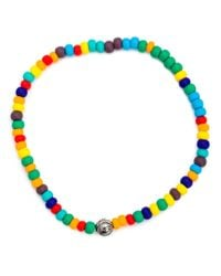 Luis Morais - Blue Evil Eye Lozenge Beaded Bracelet - Lyst
