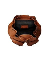 COACH | Brown Refined Pebble Leather Turnlock Tie Rucksack | Lyst