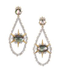 Alexis Bittar | Multicolor Shadow Star Black Mother-of-pearl Doublet Drop Earrings | Lyst
