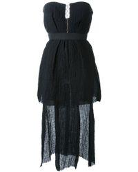 Kitx Black Asymmetric Bustier Dress