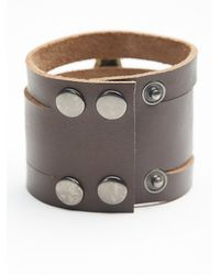 Free People - Brown Womens Monza Leather Cuff - Lyst