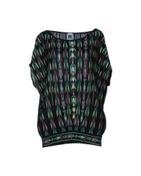 M Missoni | Black Short Sleeve Jumper | Lyst