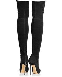 Casadei Black Suede Over-The-Knee Boots
