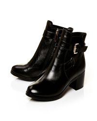 Moda In Pelle Black Arona Medium Smart Short Boots