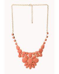 Forever 21 - Orange Sleek Cluster Bib Necklace - Lyst