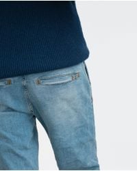 Zara | Blue Denim Chino Trousers for Men | Lyst
