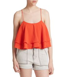 Free People | Red Tropical Wave Crop Top | Lyst