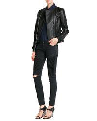 Burberry - Castlebrook Leather Jacket - Black - Lyst