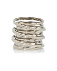 River Island | Metallic Silver Tone Spiral Ring | Lyst