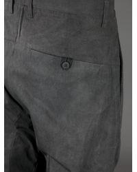 Poeme Bohemien Gray Twisted Trouser for men