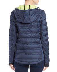 MICHAEL Michael Kors | Blue Packable Hooded Jacket | Lyst