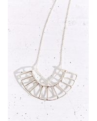 Better Late Than Never | Metallic Radial Necklace | Lyst
