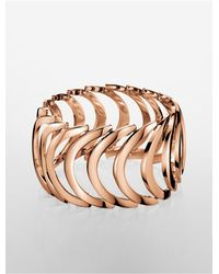 Calvin Klein | Metallic Platinum Body Pvd Rose Gold Bracelet | Lyst