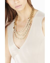 BCBGMAXAZRIA - Metallic Twisted Seed Bead Necklace - Lyst