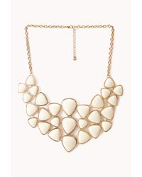 Forever 21 | Natural Dazzling Faux Stone Bib Necklace | Lyst