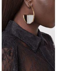 Aurelie Bidermann | Metallic 'bianca' Hoop Earrings | Lyst
