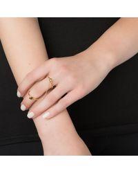 Sarah Chloe | Metallic Shea Linked Ring | Lyst