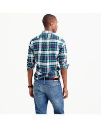 J.Crew | Blue Slim Vintage Oxford Shirt In Mackenzie Tartan for Men | Lyst