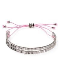Marc By Marc Jacobs Pink Textured Slot Friendship Bracelet