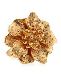 Kenneth Jay Lane - Metallic Adjustable Golden Flower Ring - Lyst