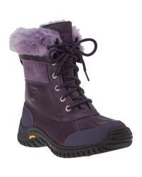 UGG | Purple Adirondack Ii Snow Boot Blackberry Wine Leather | Lyst