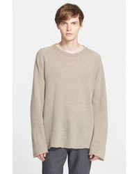 Barena - Gray Wool Blend Crewneck Sweater for Men - Lyst