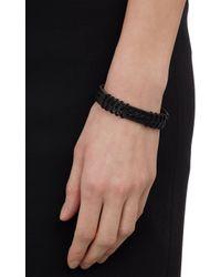 Isabel Marant - Black Fishtail Braid Leather Bracelet - Lyst