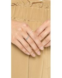 Blanca Monros Gomez | Metallic Slim Round Eternity Band Ring - Gold/clear | Lyst