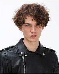 Zara | Black Leather Biker Jacket for Men | Lyst