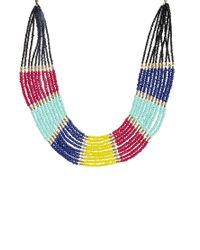 ALDO Multicolor Modanella Beaded Collar Necklace