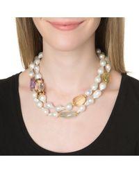 Bounkit | Metallic Sautoir Necklace | Lyst