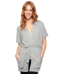 Splendid | Gray Belted Cardigan | Lyst