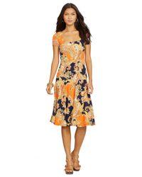 Lauren by Ralph Lauren | Multicolor Petite Paisley Drop Waist Dress | Lyst