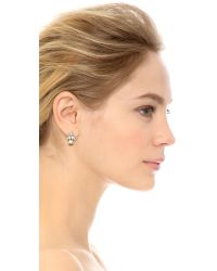 Kenneth Jay Lane - White Crystal & Imitation Pearl Earrings - Lyst