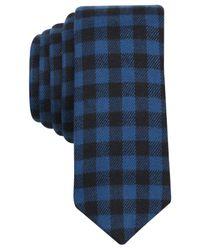 Original Penguin | Blue Poca Check Skinny Tie for Men | Lyst